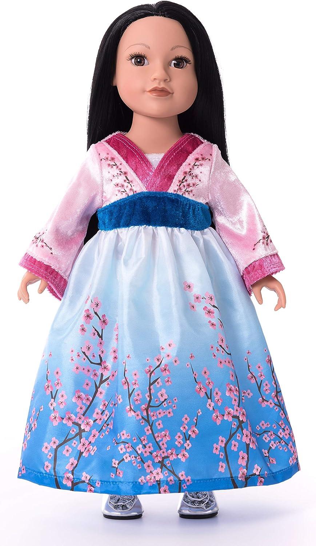 Little Adventures Cherry Blossom Princess Doll Dress