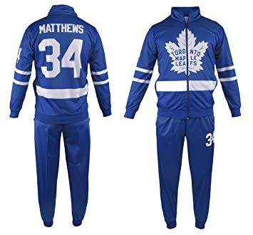new arrival 8dfe0 1250d Auston Matthews #34 Toronto Maple Leafs Hockey Kids Tracksuit Track Jacket  with Pants Youth Sizes