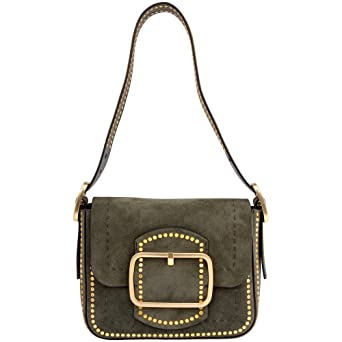 62a7805dc585 Image Unavailable. Image not available for. Color  Tory Burch Sawyer Stud  Ladies Small Suede Shoulder Bag 42111304