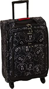 American Tourister Disney Softside Luggage with Spinner Wheels, Mickey Mouse Scribbler Multi-Face, Carry-On 21-Inch