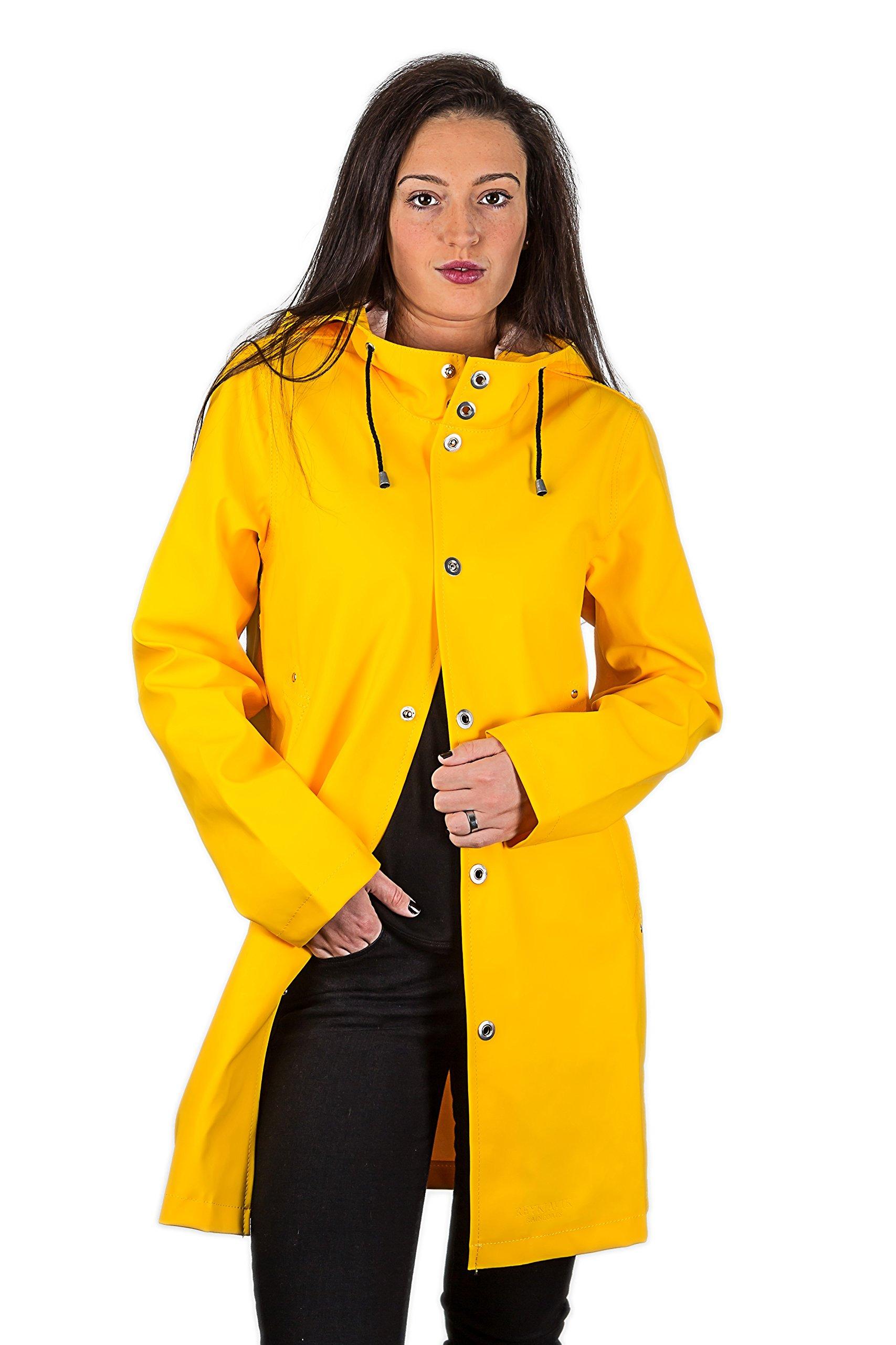 Stylish Urban Fisherman Style Rainwear Coat - Size S - Color Yellow by Reykjavik Raincoat