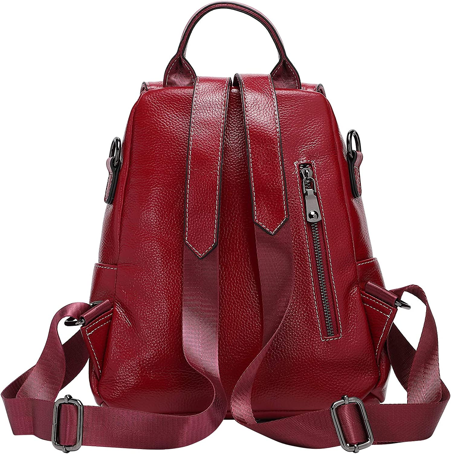 ALTOSY Fashion Real Leather Backpack Purse for Womens Versatile Casual Shoulder Bag
