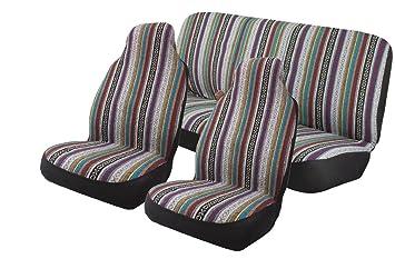 Baja Inca Saddle Blanket Seat Covers Full Set High Back Bucket Pair Rear Bench
