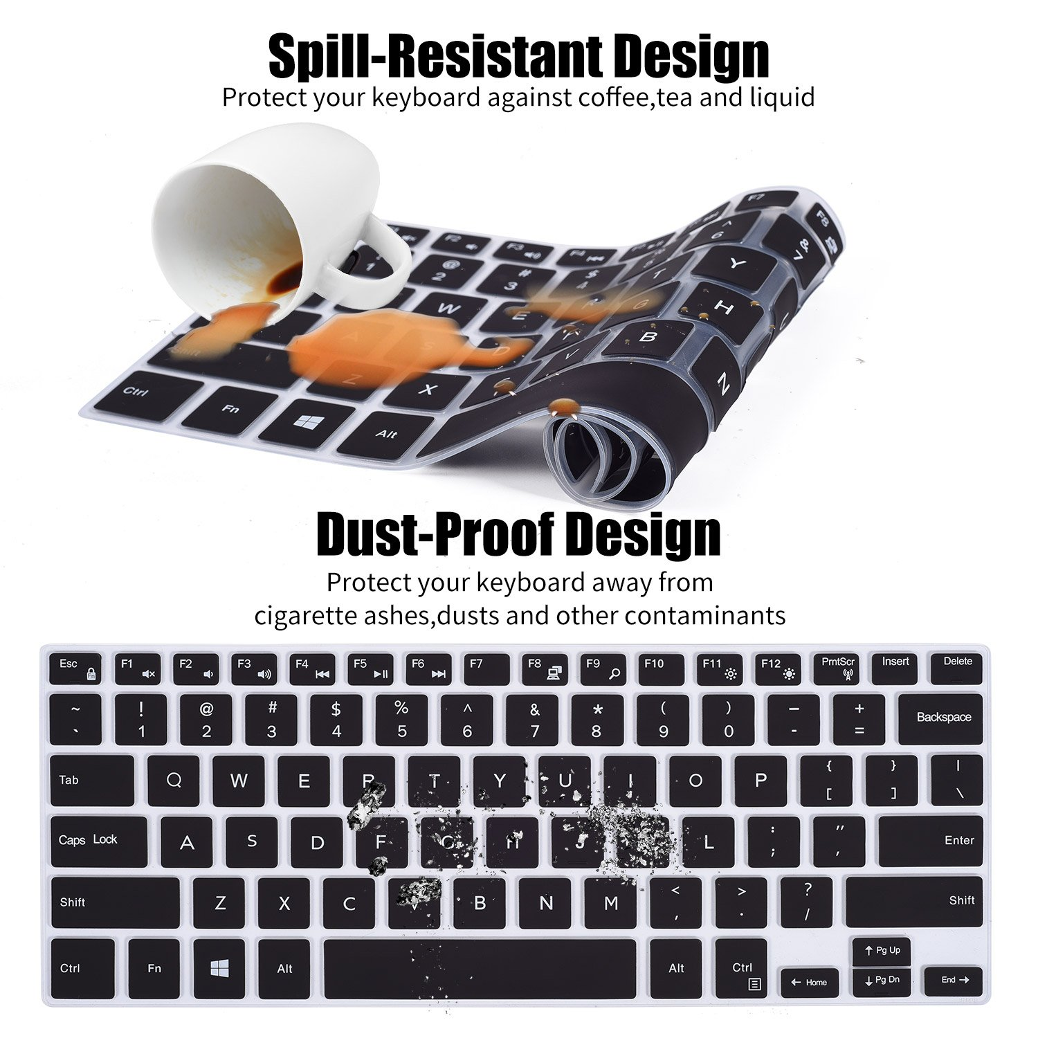 for Dell Xps 15 9570 15 9570 Xps15 15.6 Xps 15 9550 9560 9570 Laptop Keyboard Cover Skin-Candyblack
