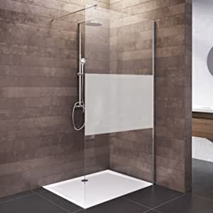 NN Mampara de ducha Walk en 120 x 200 Ducha Pared Cristal Satinado cromo, 1 pieza, 4056397003984, 1 pieza, decoración decente: Amazon.es: Bricolaje y herramientas