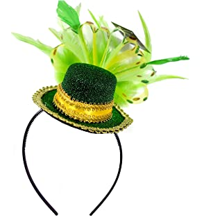 Amazon Com Amscan St Patrick S Day Feathered Top Hat Headband