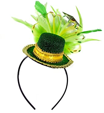 Image result for KINREX St. Patricks Day Feathered Headband - St. Patrick's Day Decorations - Irish Decorations - One Size Fits All
