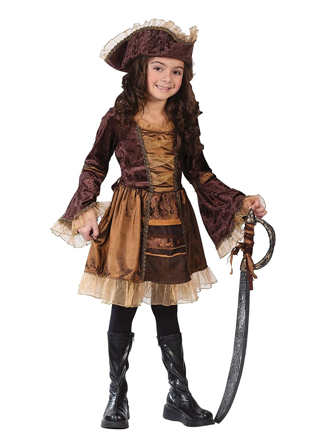 sc 1 st  Amazon.com & Amazon.com: Sassy Victorian Pirate Child Costume - Large: Clothing