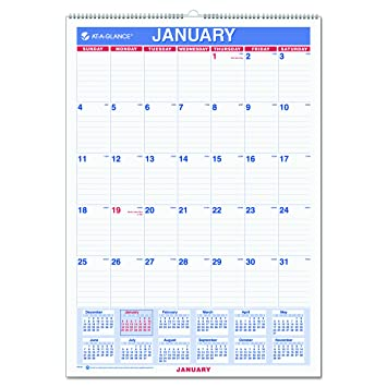 Amazon.Com : At-A-Glance Wall Calendar 2017, Monthly, 12 X 17