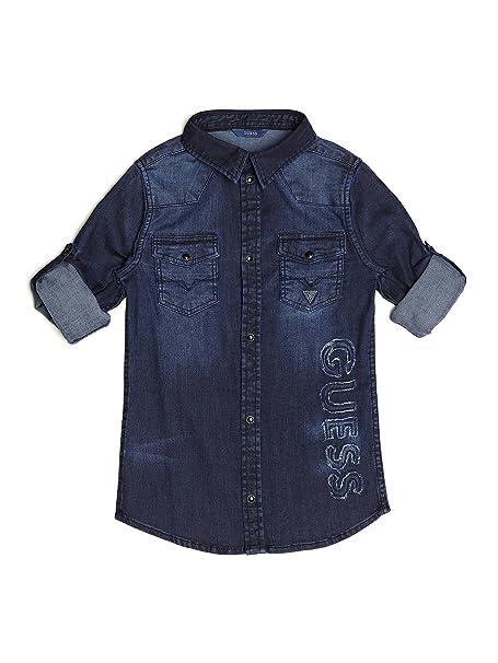 Denim Maglia L81h05d2nz0 Cotone Ragazzo Guess Kids Camicia Originale gxEqFqwvR