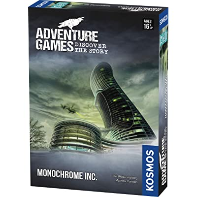 Adventure Games: Monochrome, Inc. - A Kosmos Game from Thames & Kosmos | Collaborative, Replayable Storytelling Gaming Experience for 1 to 4 Players Ages 16+: Toys & Games