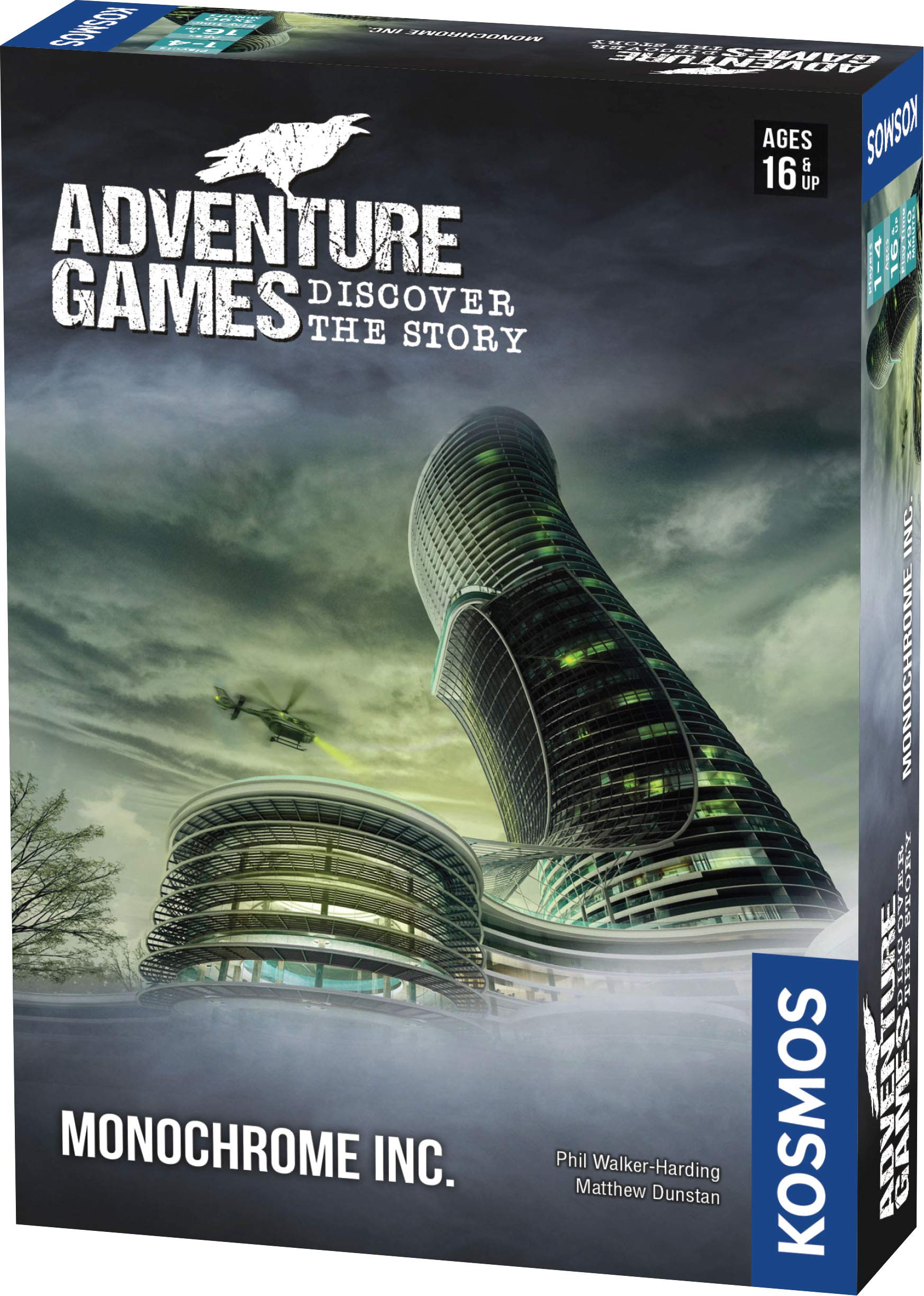 Adventure Games: Monochrome, Inc. - A Kosmos Game from Thames & Kosmos | Collaborative, Replayable Storytelling Gaming Experience for 1 to 4 Players Ages 16+