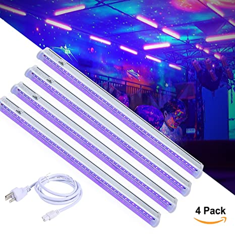 Greenclick Uv 92ft Led 4 Pack Art Light 4 Blacklight7w Bar rdoeCxB