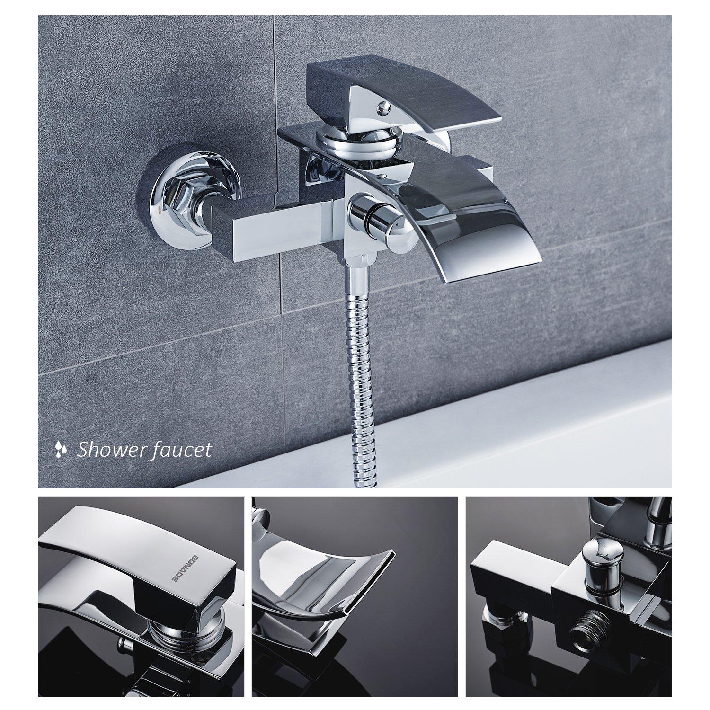 Doccia doccia doccia pannello testa a mano Kinse/® due anni sistema doccia doccia garanzia cromo doccia a cascata Set doccia incl