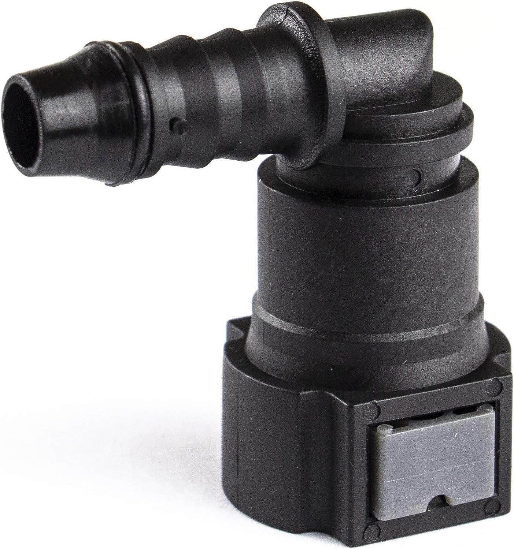 urea Combustible Pipe Gasolina Filtro de Combustible Montaje r/ápido Conector Auto Parts Mmhot 9.89 ID8 Curvo de Combustible Conector L/ínea r/ápida Color : 1 Set