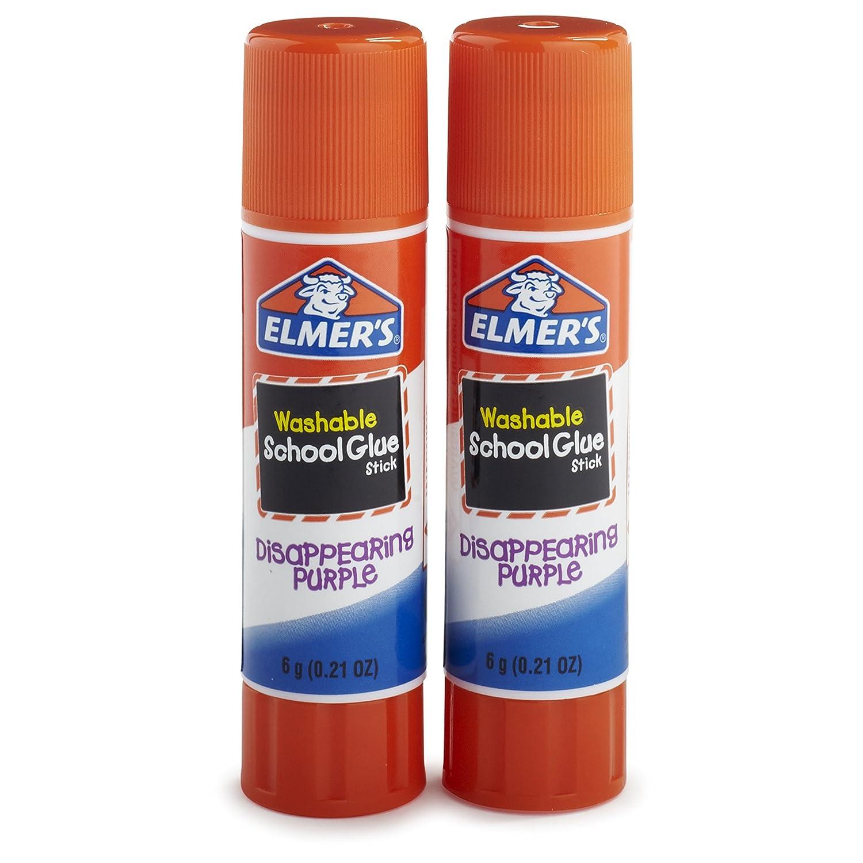 Elmer's Disappearing Purple School Glue Sticks.21 oz, 2 Pack (E522) Elmers