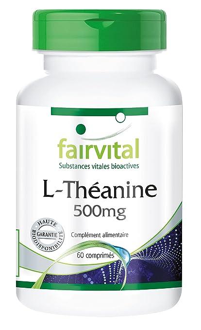 l-teanina 500 mg – 60 pastillas – para una armonía interior y un gran rendimiento: Amazon.es: Salud y cuidado personal