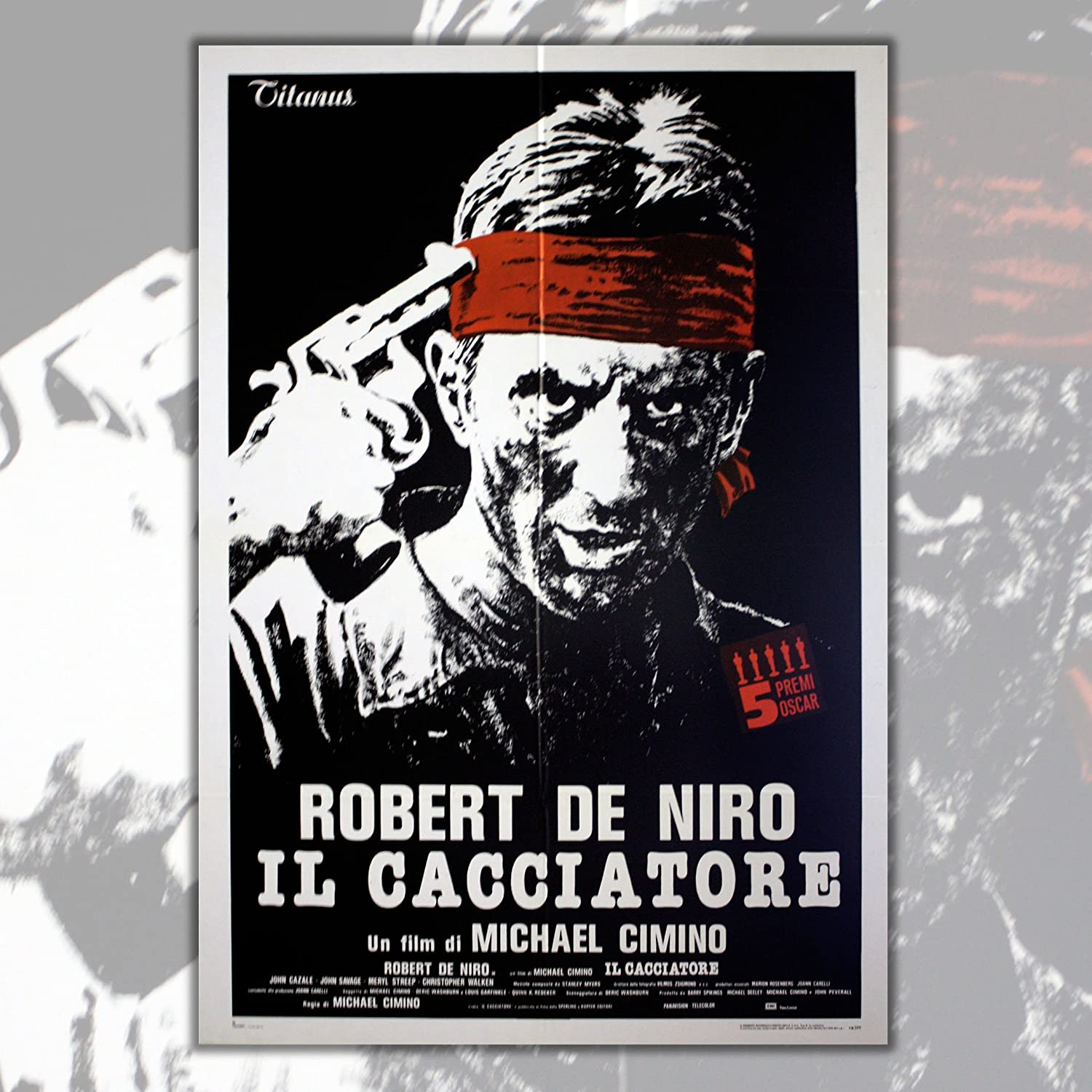 Grande Cine Poster The Deer Hunter - Dimensiones: 100x140 CM ...