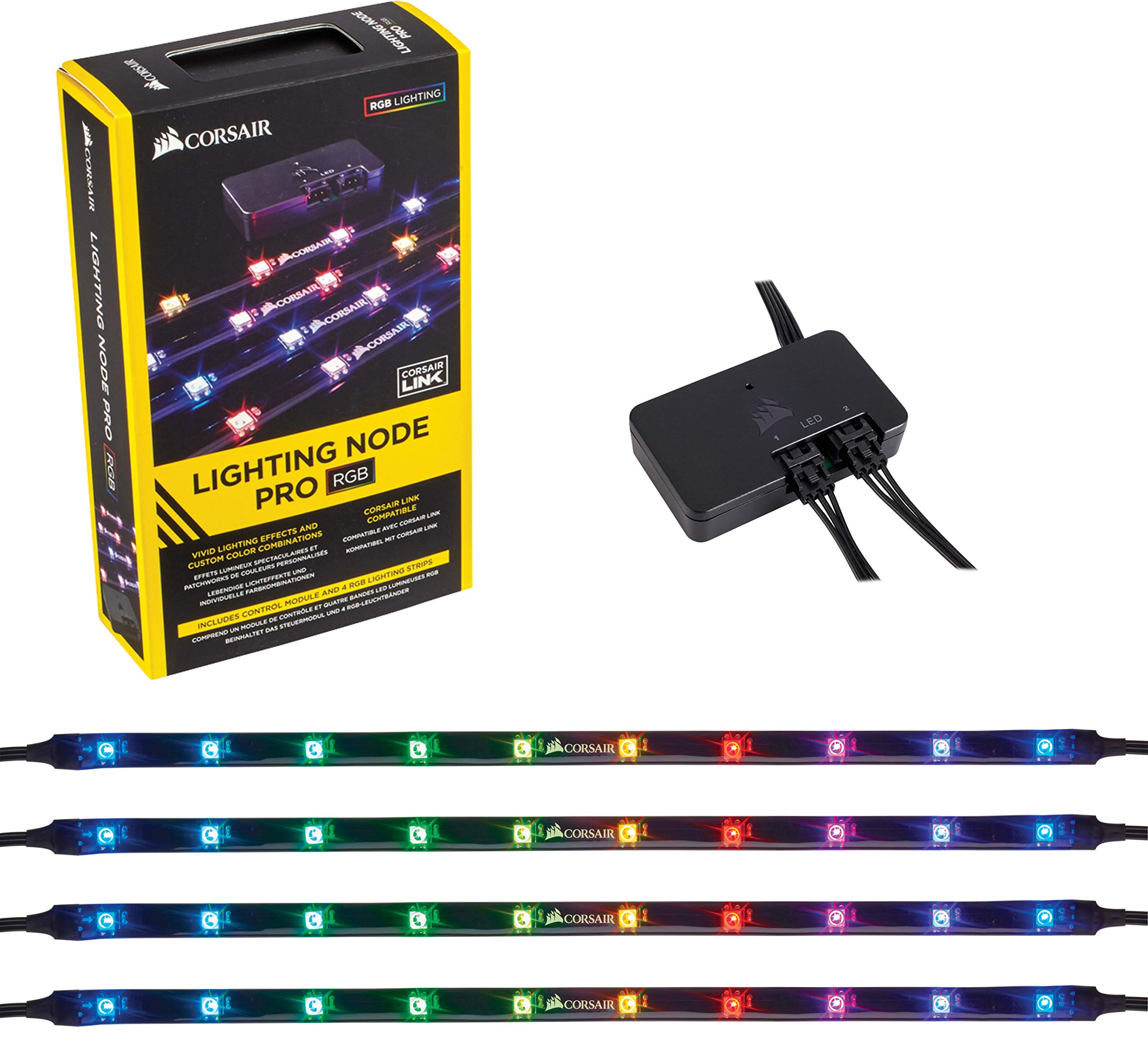 CORSAIR iCUE Commander PRO Smart RGB Lighting and Fan Speed Controller with RGB LED Lighting PRO Expansion Kit by Corsair (Image #2)