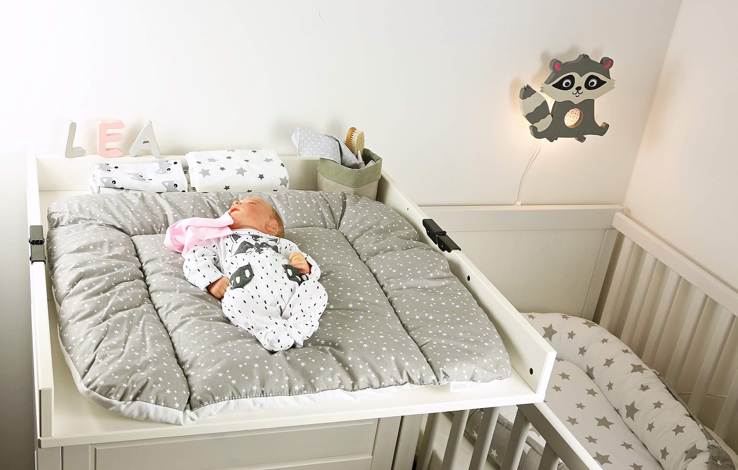 Little Stars wei/ß-hellgrau Clevere Kids Stillkissen Lagerungskissen Sterne 150 cm OEKO-TEX