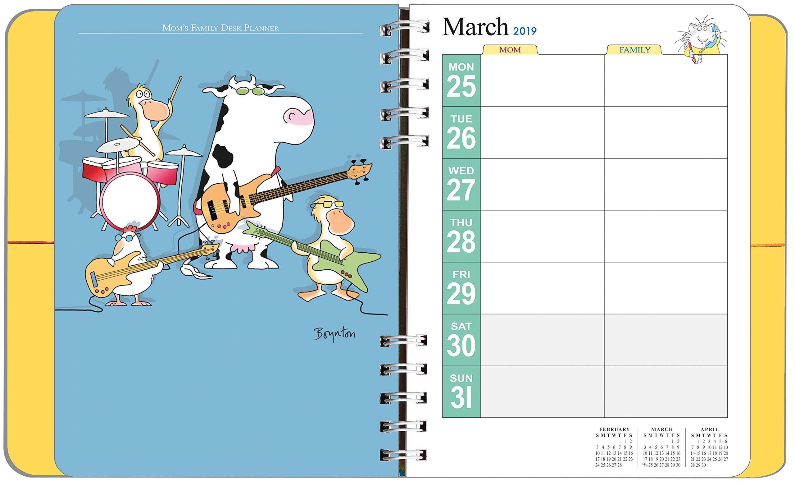 Mom S Family Desk Planner Calendar 2019 Sandra Boynton