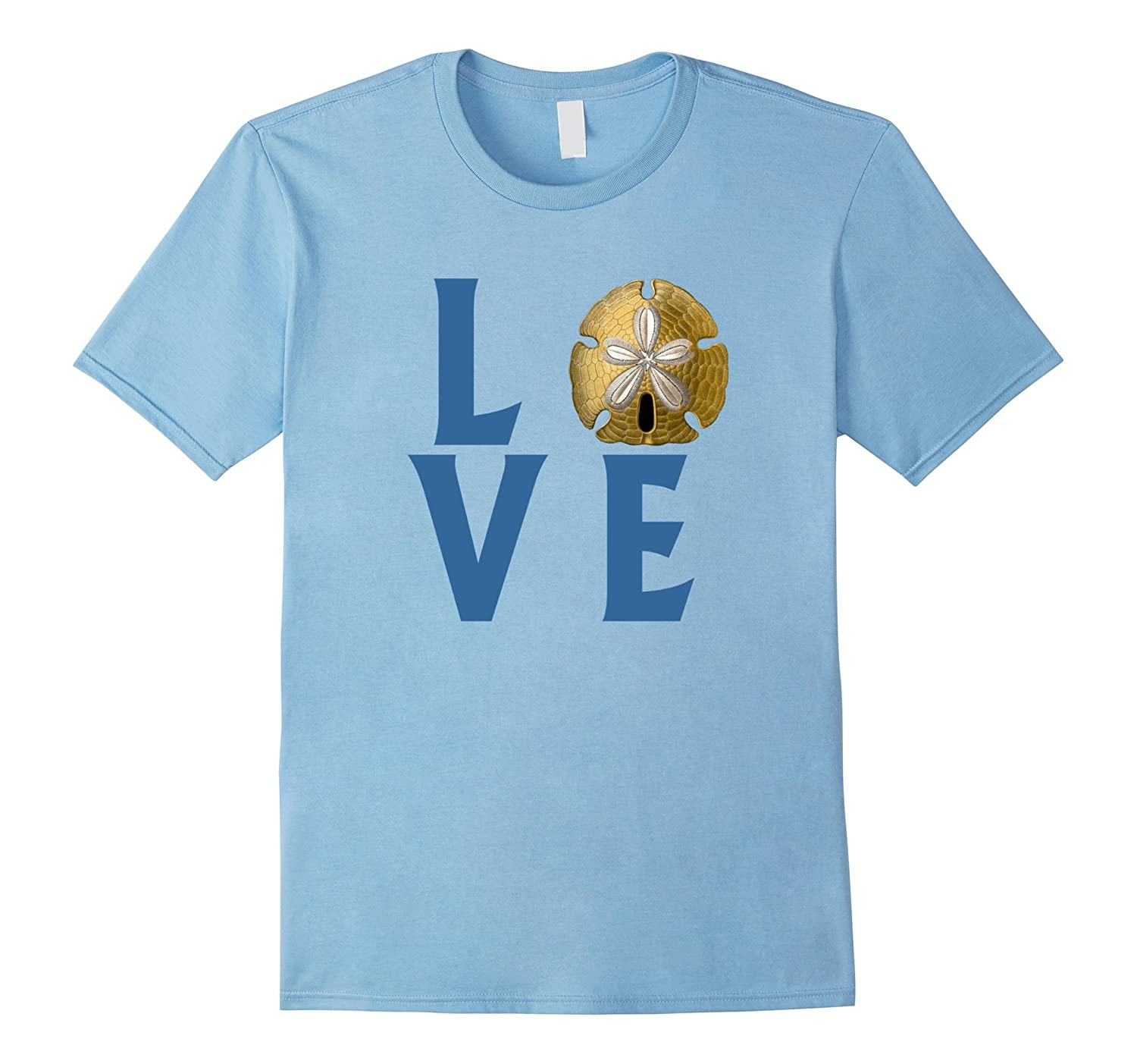 LOVE text with Sand Dollar T-Shirt