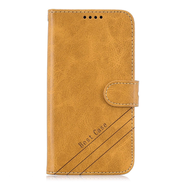 H/ülle Leder Case mit Standfunktion Magnetverschluss Flipcase Klapph/ülle kompatibel mit Xiaomi Redmi 7A DOHEX120547 Rot Docrax Xiaomi Redmi 7A Handyh/ülle