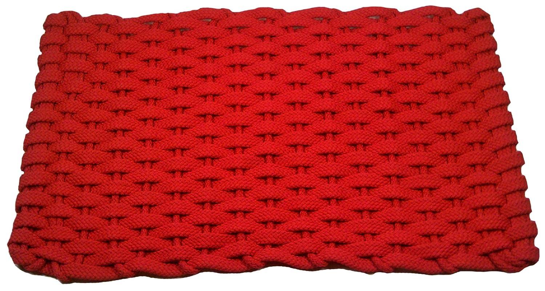 Navy Blue with White Insert Texas Doormats Rockport Rope Doormats 2030300 Indoor and Outdoor Doormats 20 by 30-Inch