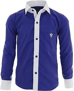 7d974c29bbc56c GILLSONZ A2vDa Kinder Party Hemd Freizeit Hemd bügelleicht Lange Arm mit 8 Farben  Gr.86Bis158