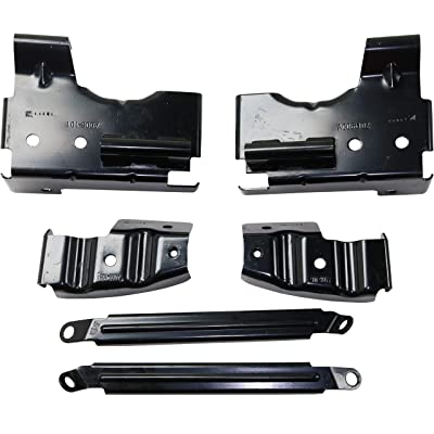 Bumper Bracket Compatible with 2003-2006 GMC Sierra 1500 2500 HD 3500 Front Driver and Passenger Side: Automotive
