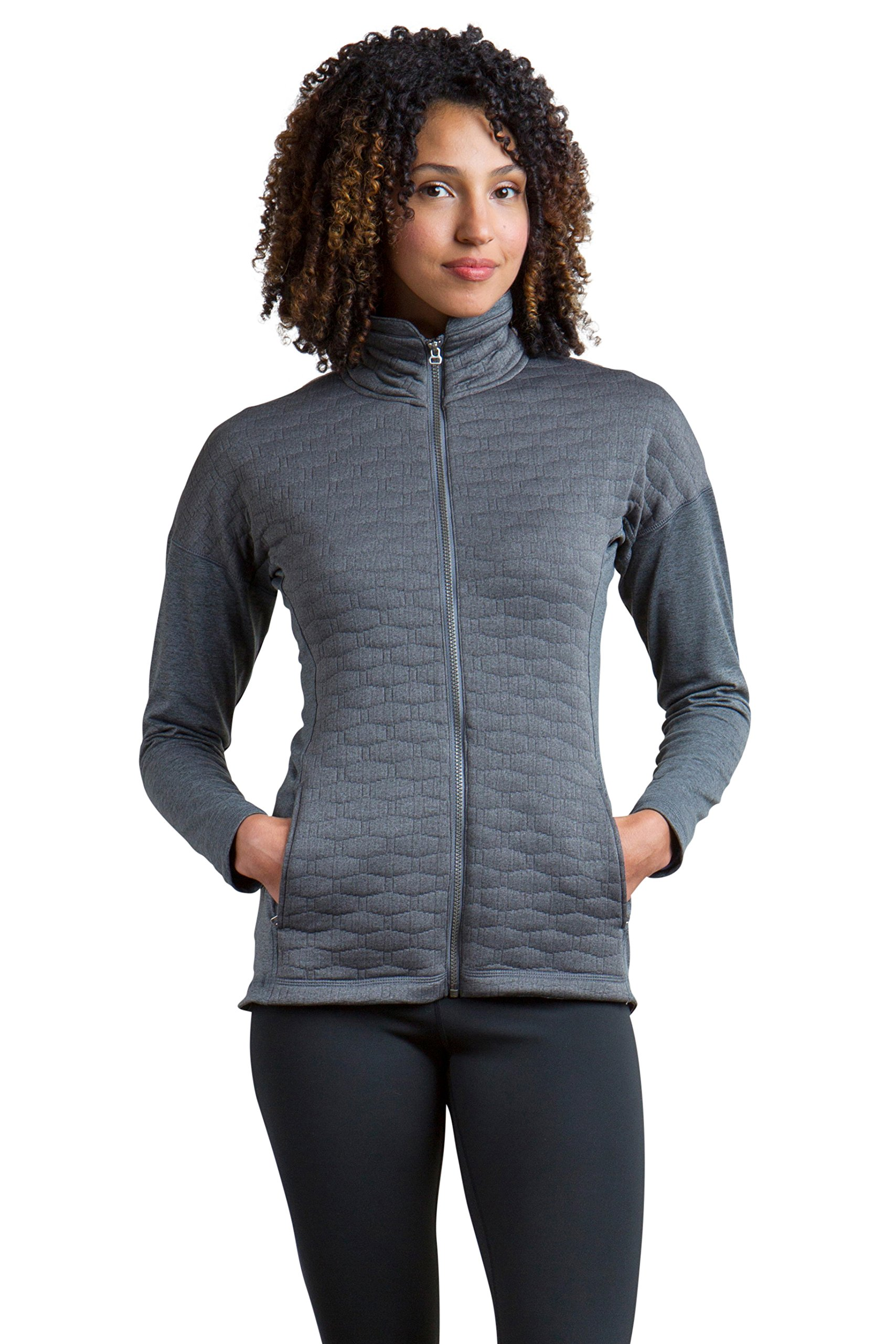 ExOfficio Women's Kelowna Full Zip, Grey Heather, Medium