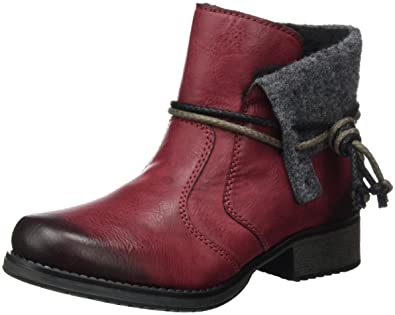 Rieker Y9791, Botas para Mujer, Rojo (Wine/Granit), 36 EU