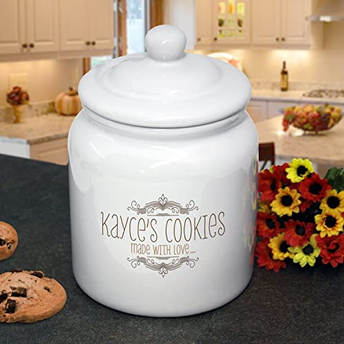 amazon com personalized cookie jar whimsical design for