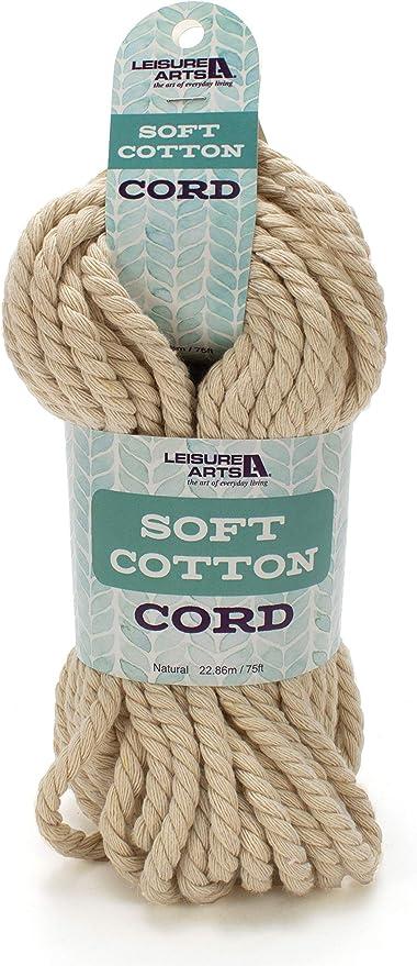 Leisure Arts - Cordón de algodón suave para manualidades (2,86 m ...