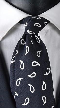 Corbata de hombre con estampado de siete pliegues, exclusiva ...