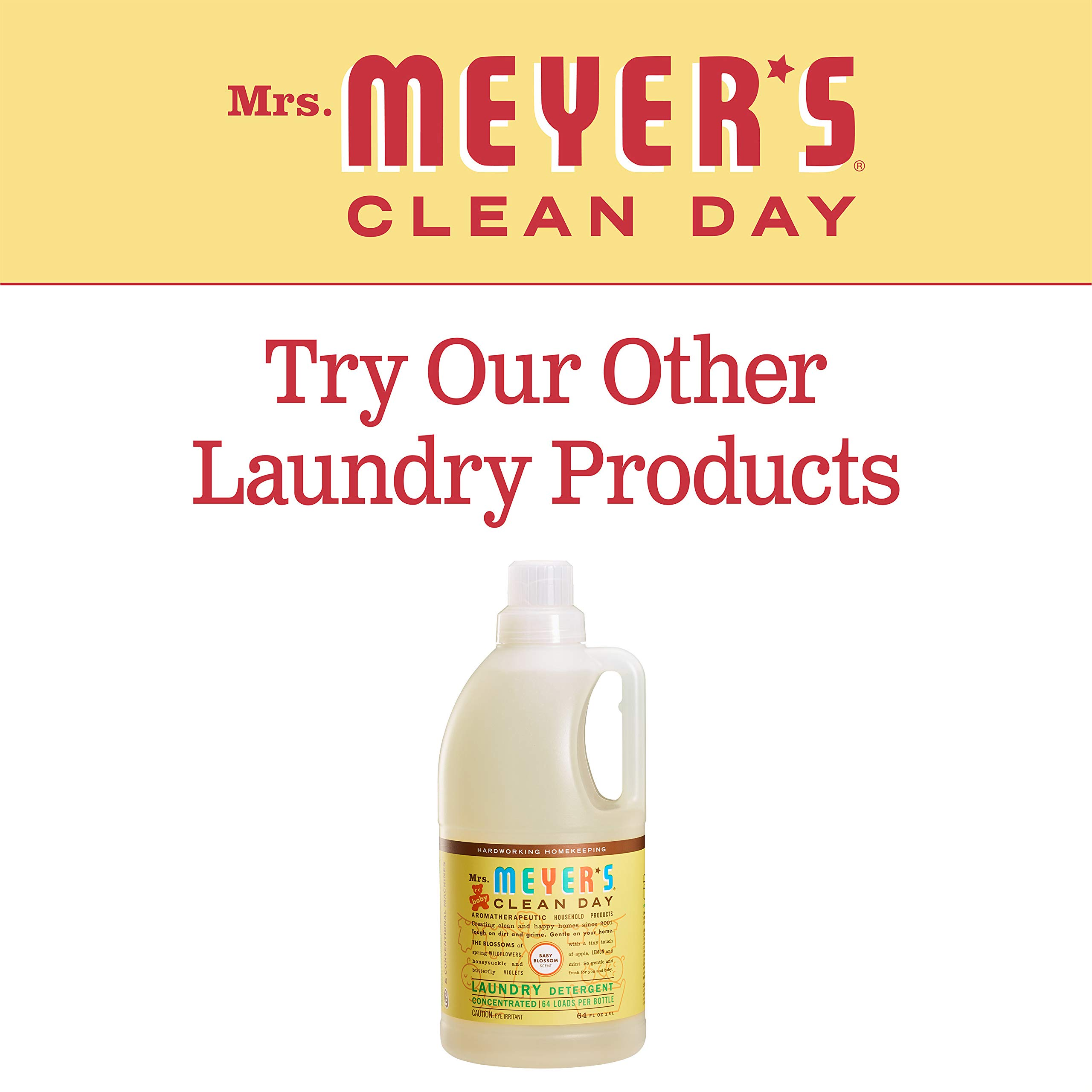 Mrs. Meyer's Laundry Detergent, Baby Blossom, 64 fl oz (2 ct) by Mrs. Meyer's Clean Day (Image #6)
