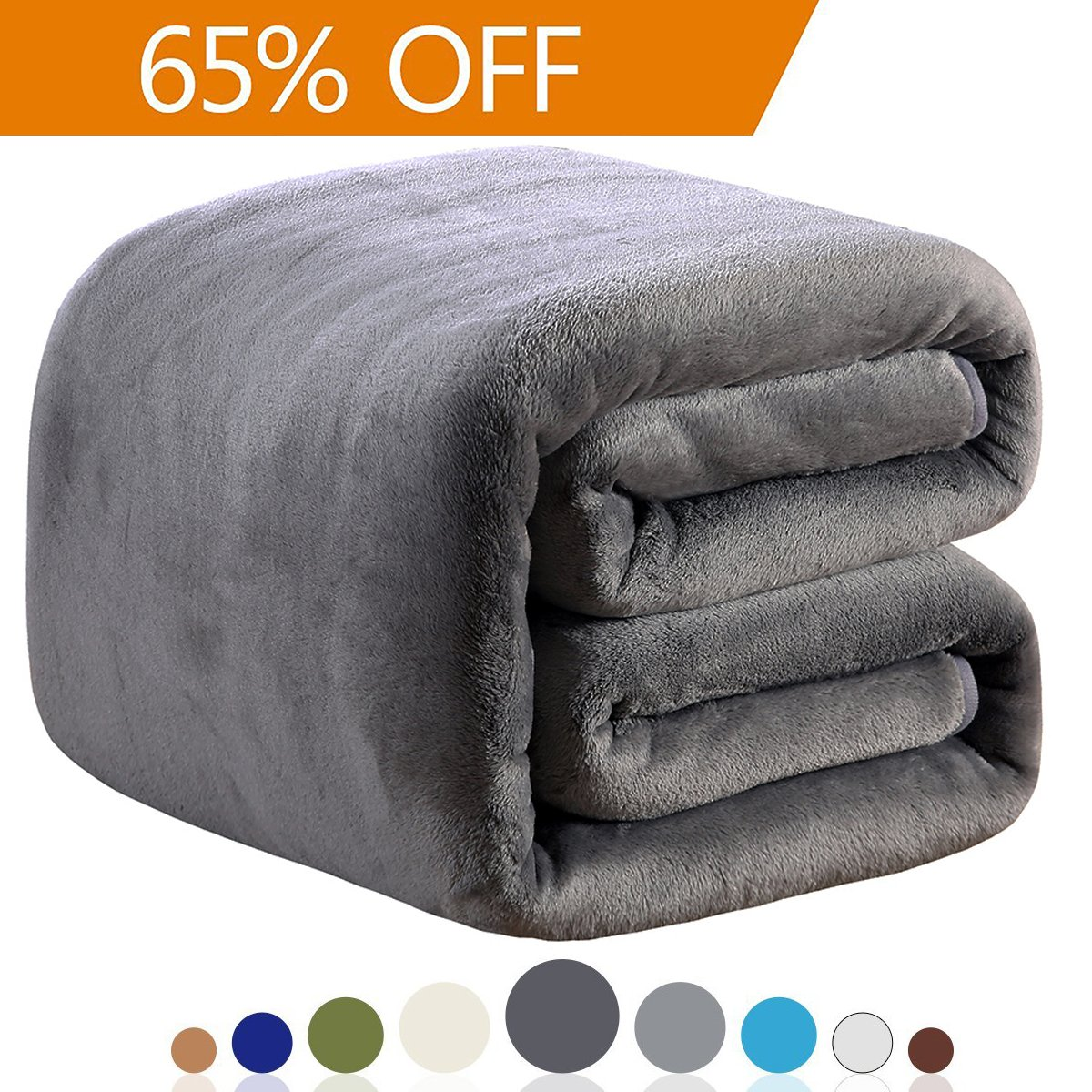 "Fleece Blankets King Size for The Bed Warm Sofa Blanket 90"" x 108""(Dark Grey King"
