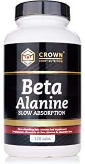 Crown Sport Nutrition Beta Alanina Slow Absorption, Ayuda a reducir la parestesia, Suplemento para