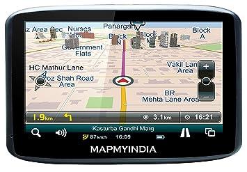 MapmyIndia LX140WS GPS Navigator with Preloaded MapmyIndia Maps on