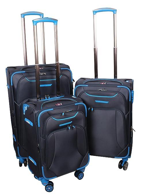 69bf1584ad44 Ventex Germany Dark Blue Set of 3 Pcs. 4 Wheel Trolley Suitcase (17