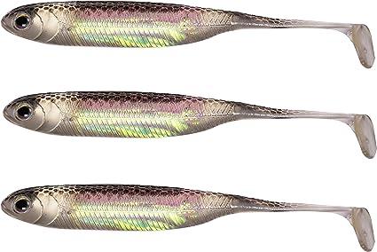 TORPEDO soft bait fishing lure shad drop shot or jig weedless pack of 3 UK 1st