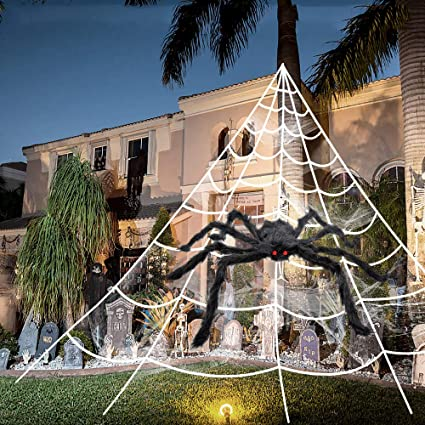 giant halloween spider web