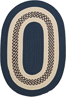product image for Colonial Mills Floor Decorative Crescent - Lake Blue 2'x10' Oval Rug