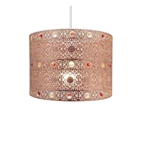 Copper Gem Moroccan Style Chandelier Ceiling Light Shade Fitting Round Universal, Copper