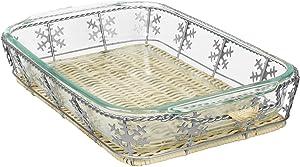 Pyrex 3 Quart Snowflake Basket Set