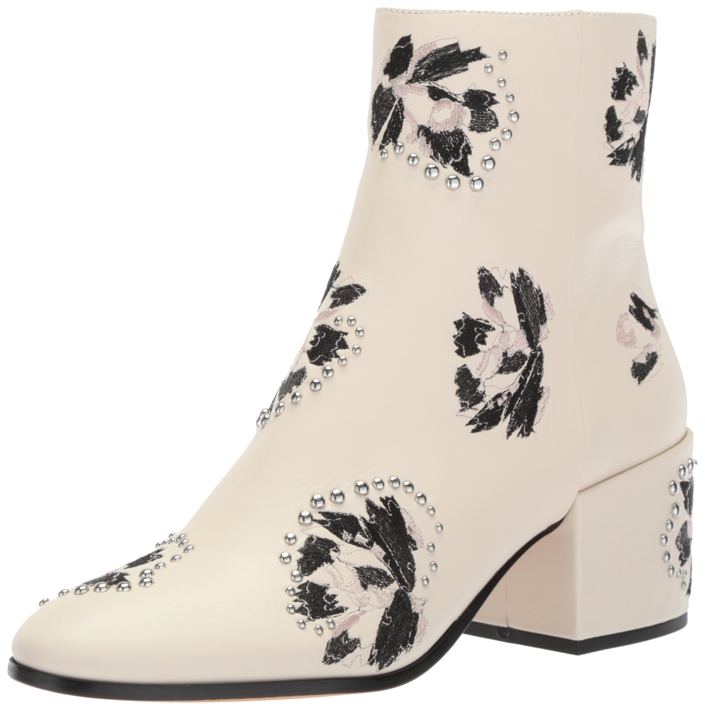 Dolce Vita Women's Mollie Ankle Boot, Ivory, 6.5 M US