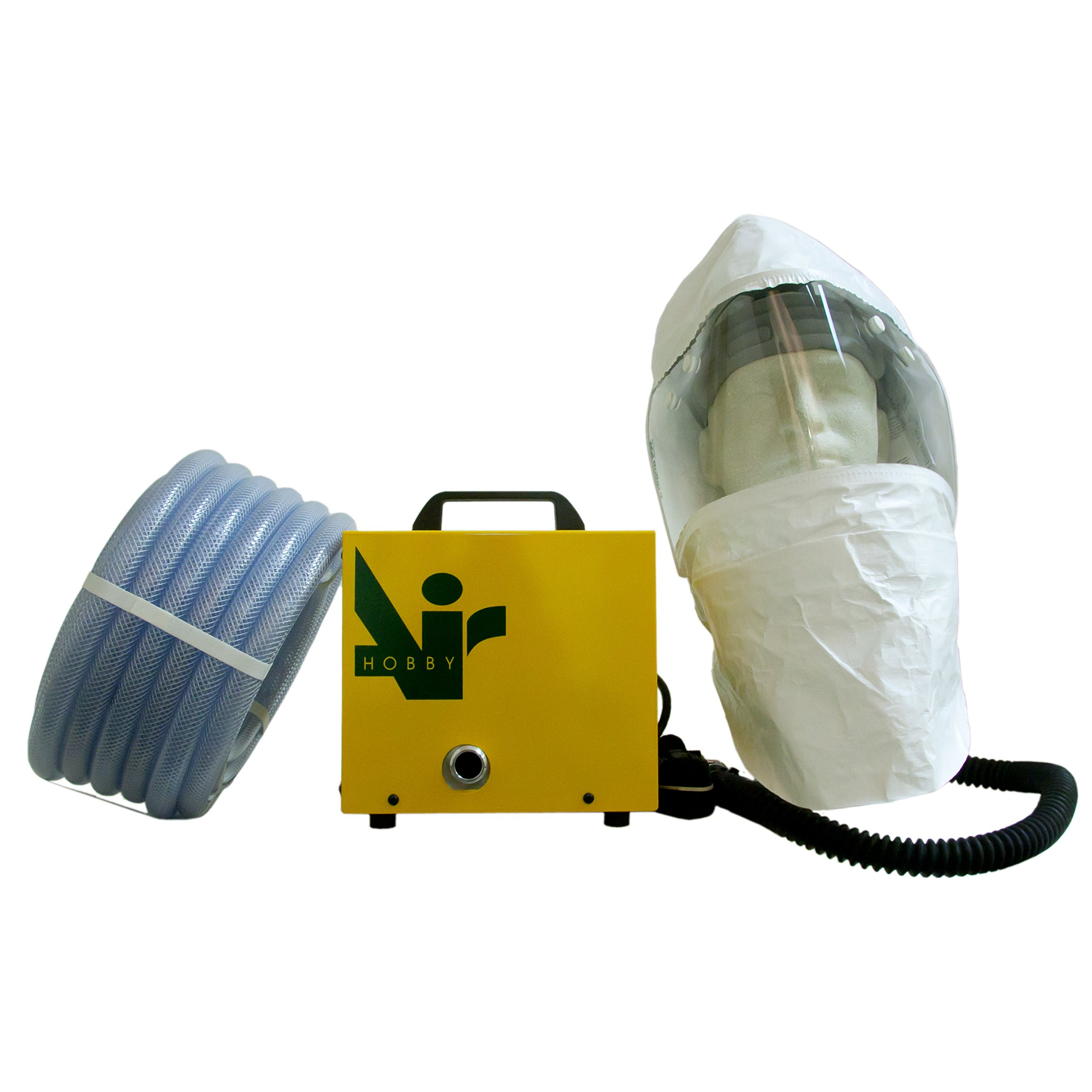 Hobbyair 1 with Air Supplied Painting Hood and 40' of Hose