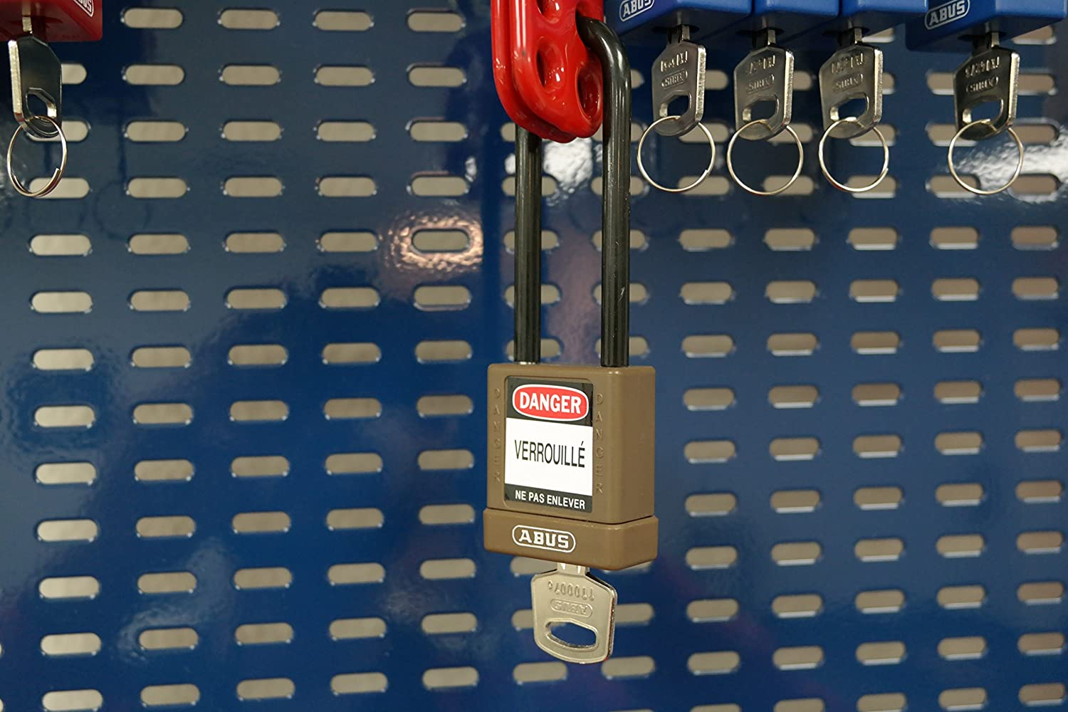 ABUS 74HB//40-75 KA Safety Lockout Non-Conductive Keyed Alike Padlock with 3-Inch Shackle Brown 74HB//40-75 KA Brown 3 Shackle