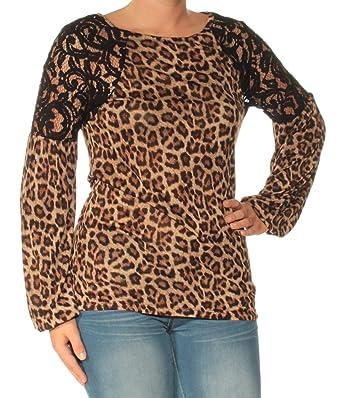 c7a059525b6b97 MICHAEL Michael Kors Women s Animal Print Long Sleeve Blouse