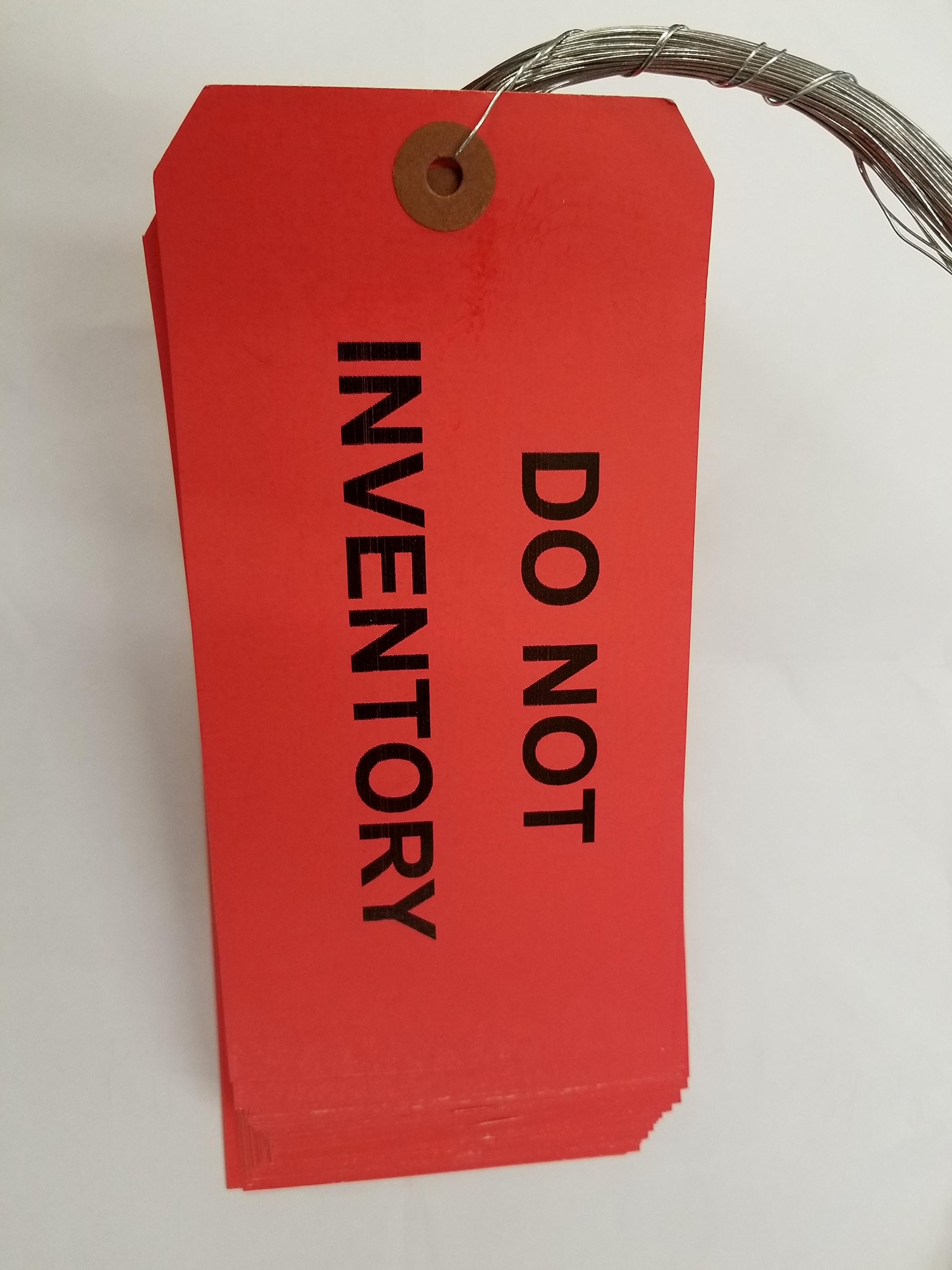 DO NOT INVENTORY TAG #8, WIRED, BUNDLE OF 50 TAGS, RED 3-1/8'' x 6-1/4'' by Linco (Image #1)